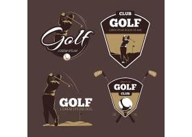 高尔夫乡村俱乐部矢量徽标模板带球标签的_11059348