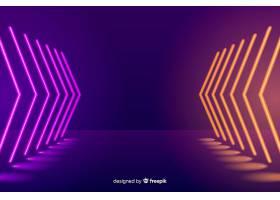 霓虹灯照亮的舞台背景_5529287
