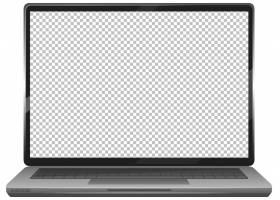 白色背景上的黑屏笔记本电脑小工具图标_9306518