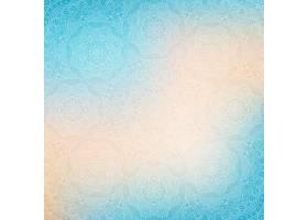 蓝色抽象背景配曼陀罗_1050382