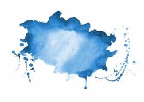 蓝色水彩飞溅纹理污渍背景设计_11151546