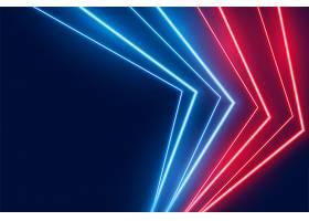 蓝红相间的LED霓虹灯线条背景_8152353