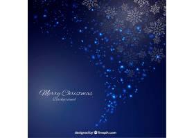 抽象风格的闪闪发光的蓝色圣诞背景_819903