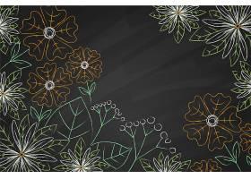 复制黑板背景上的空间花朵_6437486