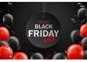 黑色星期五促销海报带有黑色气球用于零_10310620