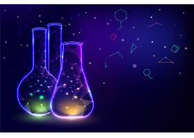 霓虹灯容器实验室背景_7800316