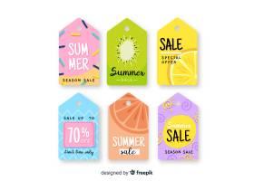 五颜六色的夏季促销标签集_4622088