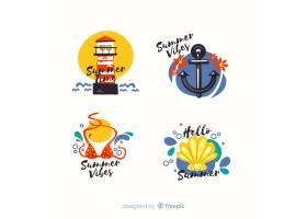 五颜六色的夏季促销标签集_4622094