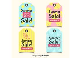 五颜六色的夏季促销标签集_4622097