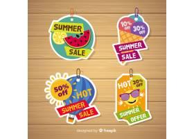 五颜六色的夏季打折标签系列_4525378