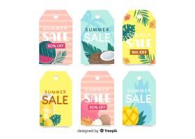 五颜六色的夏季打折标签系列_4904271