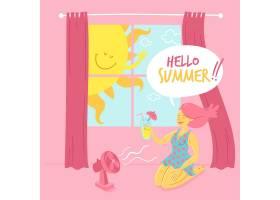 手绘你好夏日插图_8466162