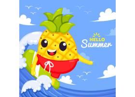 平面设计你好夏日概念_8090116