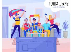 球迷欢呼球队组成五人为你最喜欢的运动队_6870826