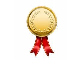 用红丝带颁奖的奖牌_10603705