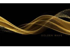 金色的流浪在黑色上闪烁着闪闪发光的尘埃_12566437