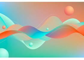 抽象形状波浪形背景_13234780