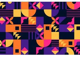 形状抽象的几何壁画背景_10498411