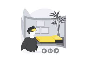 房地产虚拟旅游抽象概念_13450363