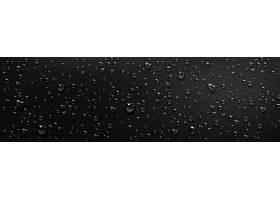 黑色背景上的水滴淋浴或雾中蒸汽在潮湿的_12089324