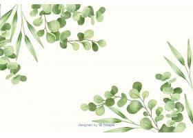 绿叶框抽象背景_5771064
