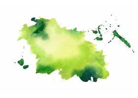 绿色水彩飞溅污渍纹理背景_10316466