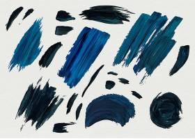 蓝色丙烯酸油漆笔触_4259858