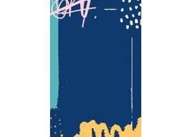 蓝色涂鸦图案背景_13312317