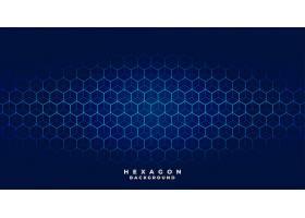 蓝色科技六角形图案设计_12320005