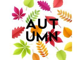 与纸秋天叶子的秋天横幅