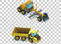 重型设备机器平面设计,挖掘机PNG剪贴画卡车,车辆,封装PostScript
