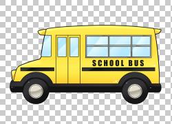 校车黄色,校车的PNG剪贴画汽车,校车,运输方式,车辆,运输,网站,公