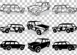手绘汽车PNG剪贴画水彩画,紧凑型汽车,手,老式汽车,窗户,汽车,马