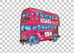 Adobe Illustrator插图,玫瑰红双公共汽车插图PNG剪贴画插画家,车