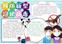 预防新型冠状病毒小报