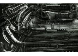 H.R.Giger,抽象,超现实主义,机,艺术品113765