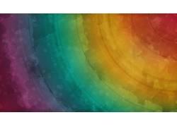 华美,抽象,水彩,彩虹,数字艺术,形状,艺术品15767
