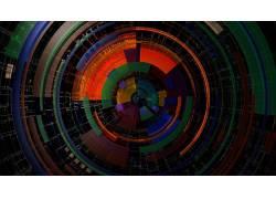 圈,对称,数字艺术,华美,线,抽象172251