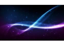 抽象,华美,形状,数字艺术,艺术品,线,紫色,蓝色,波浪线,平面设计,