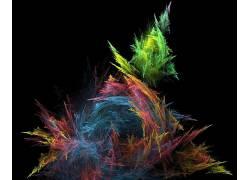 抽象,华美,形状,数字艺术117574
