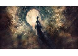 妇女,抽象,幻想艺术,数字艺术11021