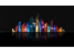抽象,华美,数字艺术,艺术品,反射,太空艺术,空间,大学62555