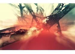 抽象,红,黑色,格子435828