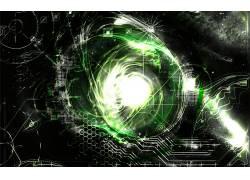 抽象,绿色134398