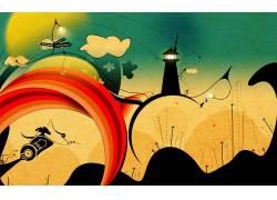 抽象,艺术品,灯塔,超现实主义55867