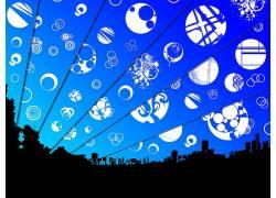 极简主义,数字艺术,市容,抽象,天空,太空艺术,空间84265