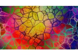 数字艺术,抽象,华美,CGI,几何,线,3D,圈271719