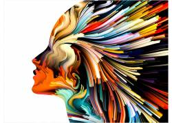 白色背景,妇女,轮廓,抽象,艺术品,华美359114图片