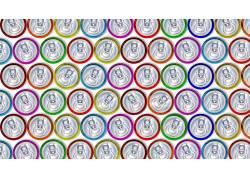 数字艺术,抽象,模式,CGI,能够,白色背景,圈,华美,顶视图408054
