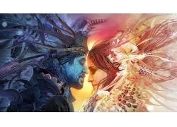 迷幻,抽象,爱,美洲原住民,分形,Android琼斯650148